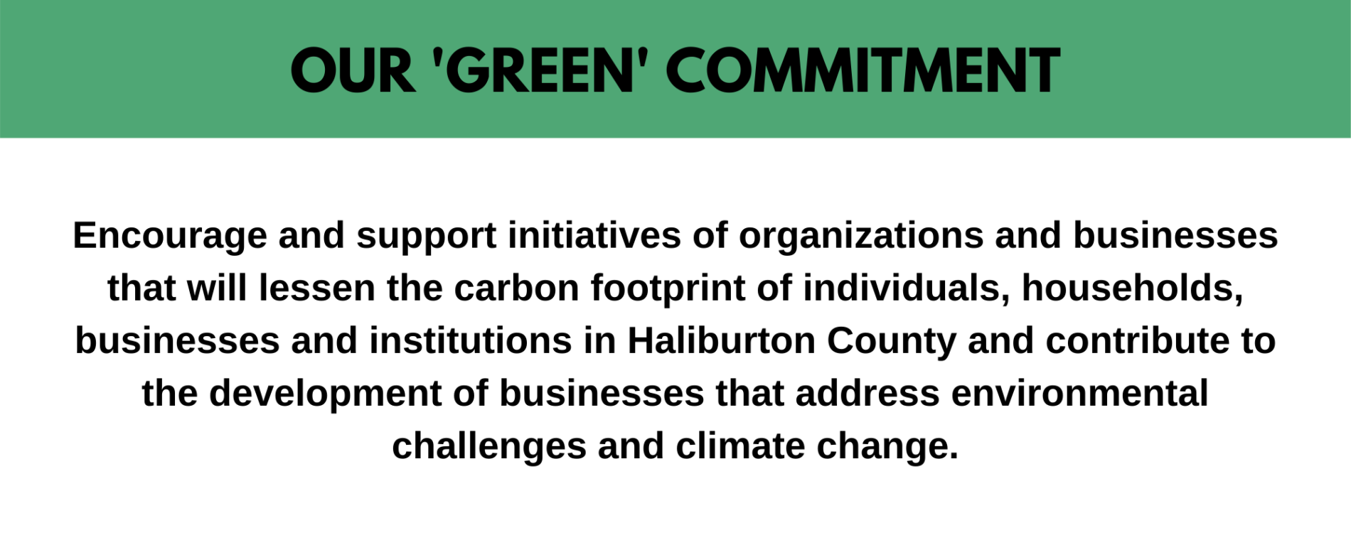 hcdc green commitment